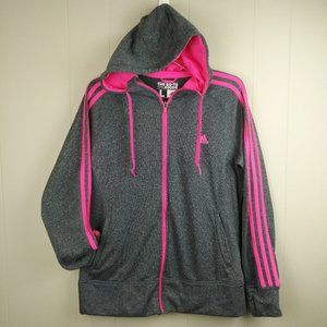 Adidas Class Hoodie Jacket Gray and Pink